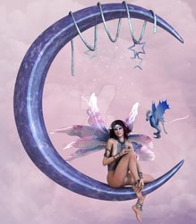 Commission - Moon fairy by ClvArt