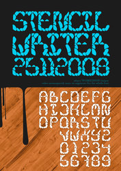 stencil writer font by doodle-lee-doo