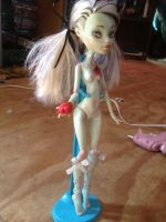 Monster High Frankie repaint by XenoBaby