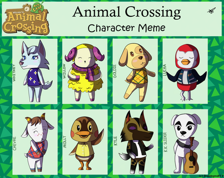 Animal Crossing Character Meme by drawingwolf17