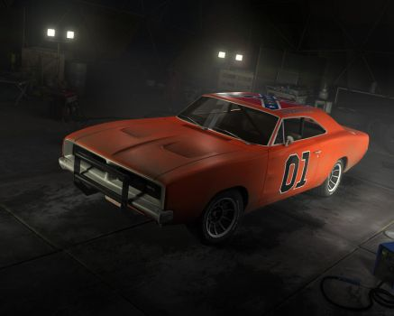 General Lee-Ps3 in game model by nocomplys