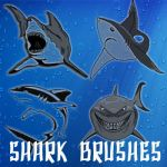 Shark Brushes by remygraphics
