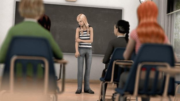 Humiliating Classroom Accident by OmoCG