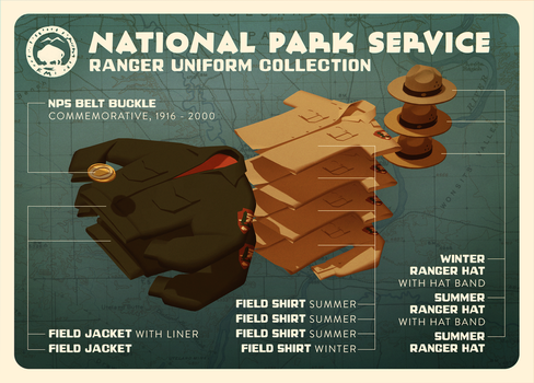 NPS Ranger Uniform Collection by shoomlah