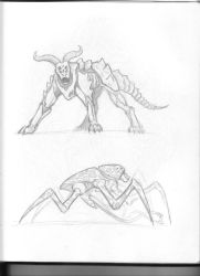 Sci-fi Creature Sketches by Saevus