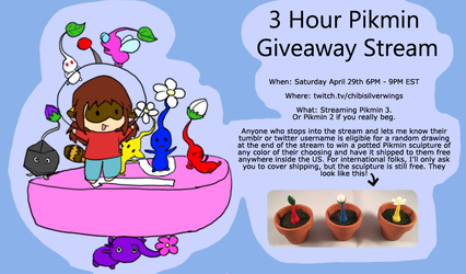 Pikmin Stream Saturday by ChibiSilverWings