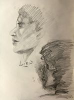 10 min. portrait studies by 7AirGoddess3