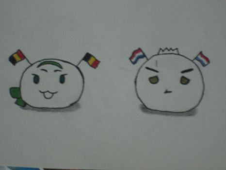 Mochi!Belgium and Mochi!Holland by Annoying-Cat