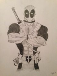 The Merc with a Mouth - Deadpool by StreifSketches
