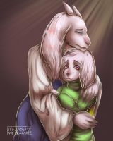 [Toriel and Asriel] M-Jadeite Collab (speedpaint) by KasugaBee