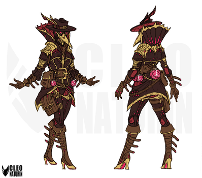 Warframe - Saryn - Plague Doctor Skin by Kanoro-Studio
