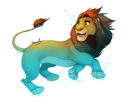 simba underwater 50% by HavickArt