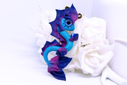 Blue and Purple Sea Dragon Necklace by SophieXSmith