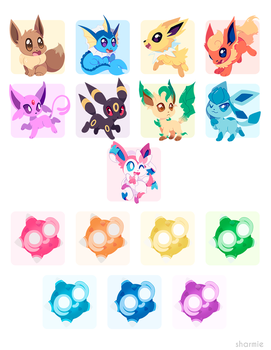 Poke Stickers 03 by ChocoChaoFun