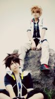 Always Nearby - Sora and Roxas by Mortal-Tisha
