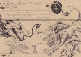 Hounds of Tindalos - Lovecraft (?) by Zellgarm