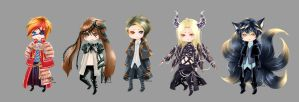 Chibi Adoptables 00 [OPEN/SET PRICE/Discounted] by Kru-Lei