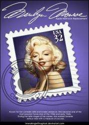 Marilyn Monroe Stamp by imwalkingwithaghost
