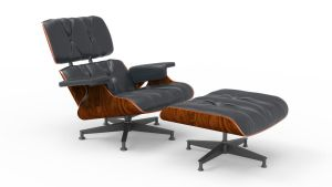 eames style lounge chair and ottoman by MimiMiaART