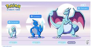 Pokemon Alternate forms - Ice Charmander by LinkerLuis
