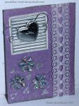 Purple Heart ATC 31 by Quaddles-Roost