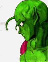 Brooding Piccolo by AnonyNunya