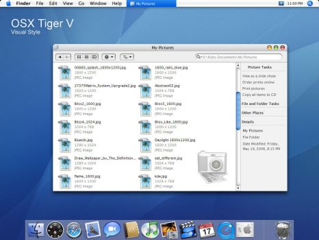 OSX Tiger V visual style by dobee