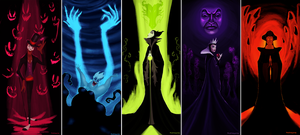 Disney Villains by matthoworth