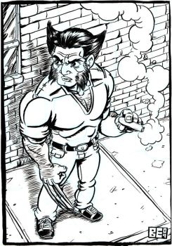 Wolverine with a cigar by Brian-Evinou