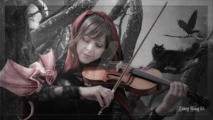 Lindsey Stirling - Fantasy Violinist  HQ 1920x1080 by FABRYKING61