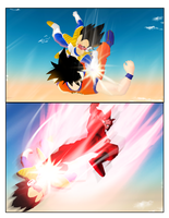 Goku vs Vegeta 2 by RaikuHoshigami