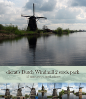 Dutch Windmill 2 stock pack by dierat-stock