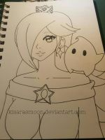 Patreon Exclusive: Rosalina and Luma (wip)  by Kisarasmoon