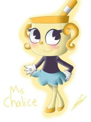 Cuphead: Ms. Chalice by AngelQueen14