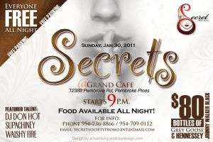 Secrets Flyer - 01.30.2011 by InkFable