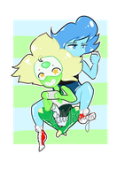 Lapis and Peridot by LittleMissilyn