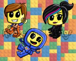 Lego Movie chibis by Kasandra-Callalily