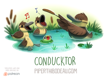 Daily Paint 1603. Conducktor by Cryptid-Creations
