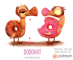 Daily Paint 1521. Dodonut by Cryptid-Creations