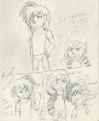 OC Doodle-Karu and the irresponsible shapeshifter by ChibiKirbylover