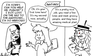 Candice Gets A Job In Webcomics by pro-mole