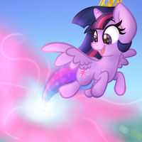 ||Redraw|| Princess Twilight Sparkle by Littleblackraencloud