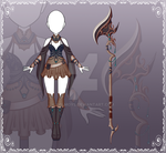 [Close] Adoptable Auction Outfit 77 + Weapon 50 by Kolmoys