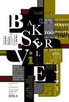 baskerville font poster by minorinfluence05