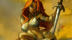 J. Scott Campbell Red Sonja Wallpaper by Gilgamesh-Scorpion