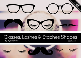 Glasses, Lashes And Staches Shapes by MysticEmma