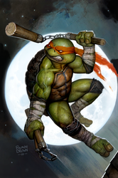 ninja turtle cover for idw macro series by ryanbrown-colour