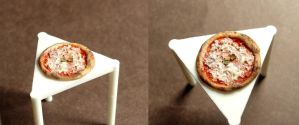 Tiny pizza by fairchildart