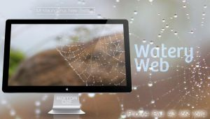 Watery Web - Wallpaper by GavinAsh