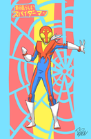 What if Spider-Man was a '70s Japanese superhero? by MrRizeAG